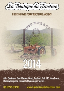 Couverture Catalogue 2014 La Boutique du Tracteur