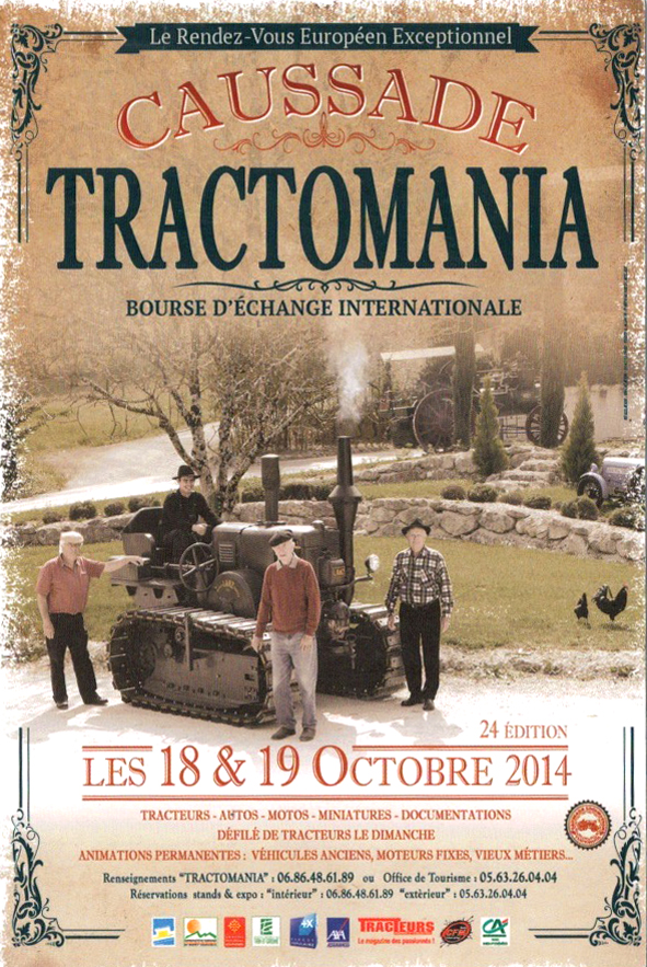 Affiche Tractomania Caussade 2014