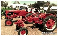 Des tracteurs de la marque Allis-Chalmers étaient aussi exposés !