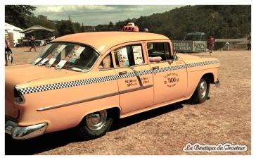Nous avons même pu apercevoir ce sublime taxi américain !