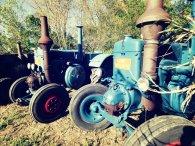 Quelques tracteurs Lanz présents à sur l'exposition.