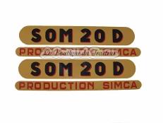 Jeu d´autocollants SOMECA 20 D (2 pièces)