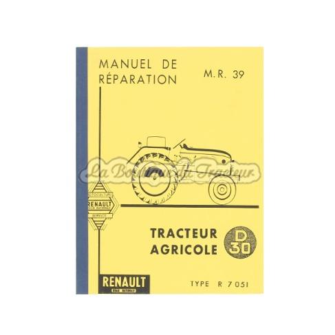 Manuel de réparation RENAULT D30