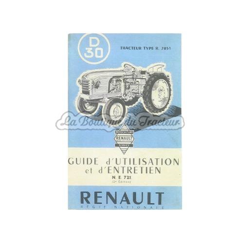 Guide d´utilisation et d´entretien Renault D30
